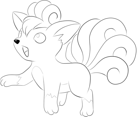 Vulpix Coloring Page Horse Coloring Pages Mandala Coloring Pages Unicorn Coloring Pages