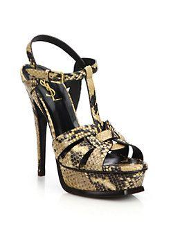 Collections For Sale Saint Laurent Tribute Python Sandals Sale Official Buy Cheap For Sale Buy Cheap Wholesale Price Zd7od