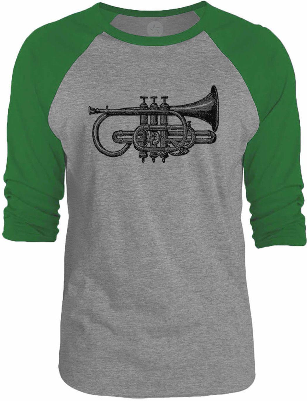Big Texas Antique Trumpet 3/4-Sleeve Raglan Baseball T-Shirt