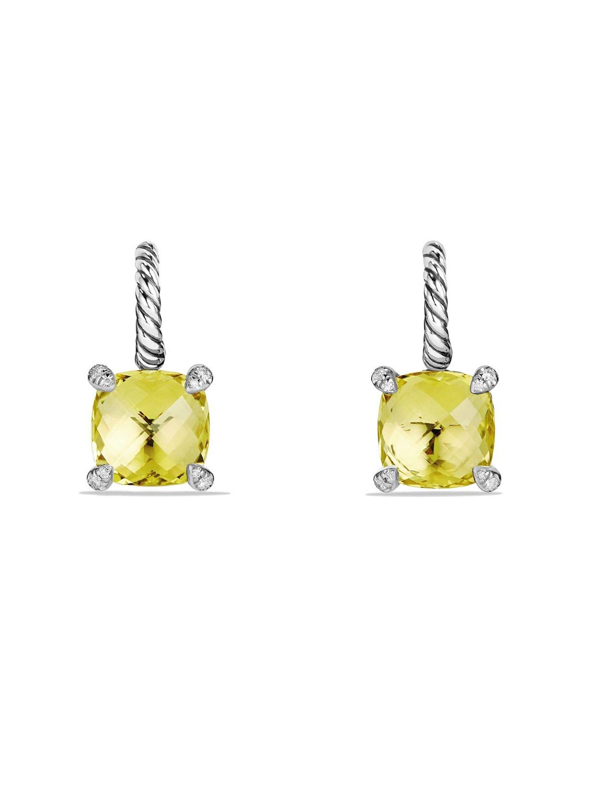 Ch¢telaine Drop Earrings with Gemstone and Diamonds by David Yurman
