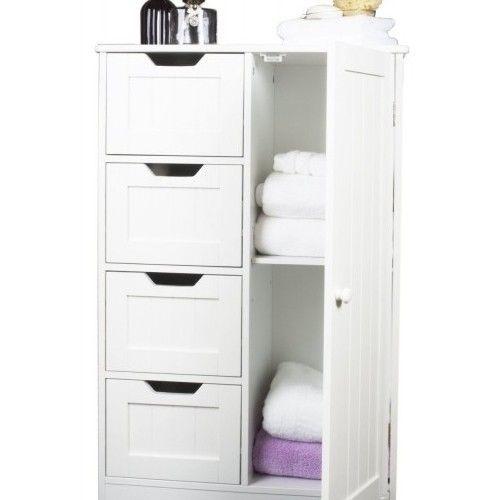 Luxury Storage Cabinet White Wood