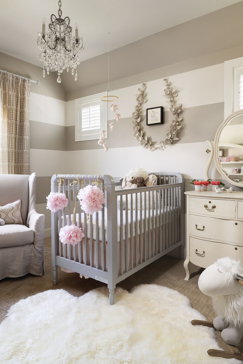 Stylish Baby Rooms Even Adults Would Adore Chic Baby Rooms Baby Room Design Striped Walls Nursery