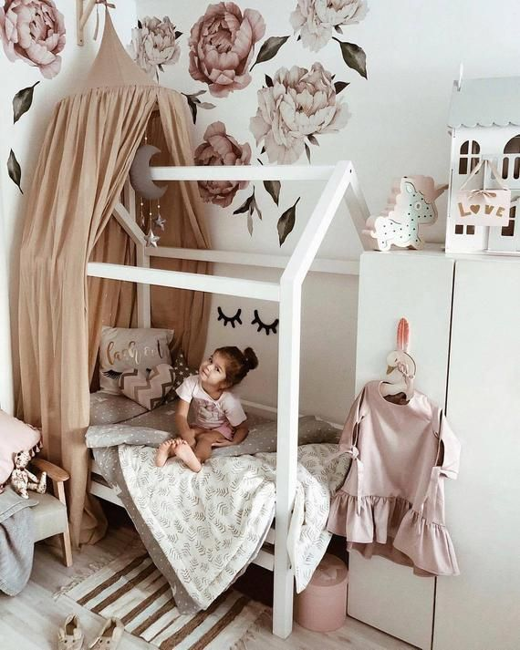 Beige peach canopy, Hanging play canopy, Canopy girl, Girls canopy bed, Kids Room canopy, Canopy play tent, Children canopy, Canopy for kid