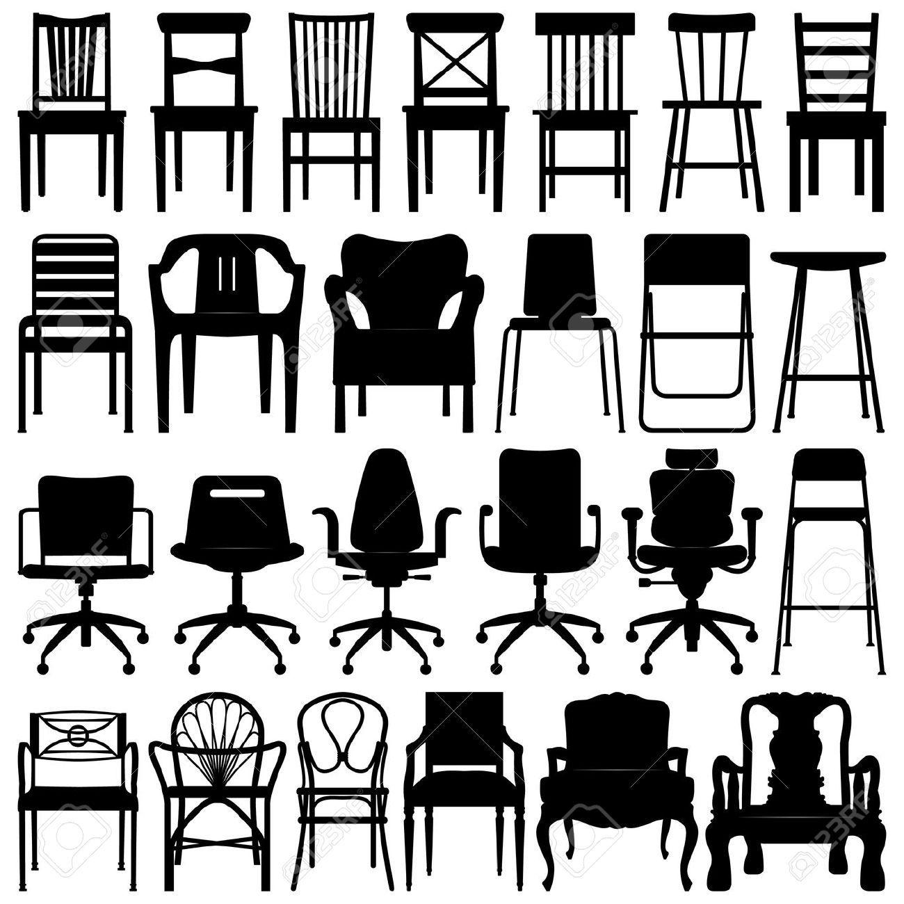 Antique chair silhouette - Logos Black Silhouetteblack Chairschair