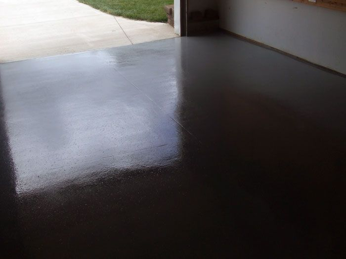 Black Epoxy Garage Floor Paint Diy Flooring Pinterest