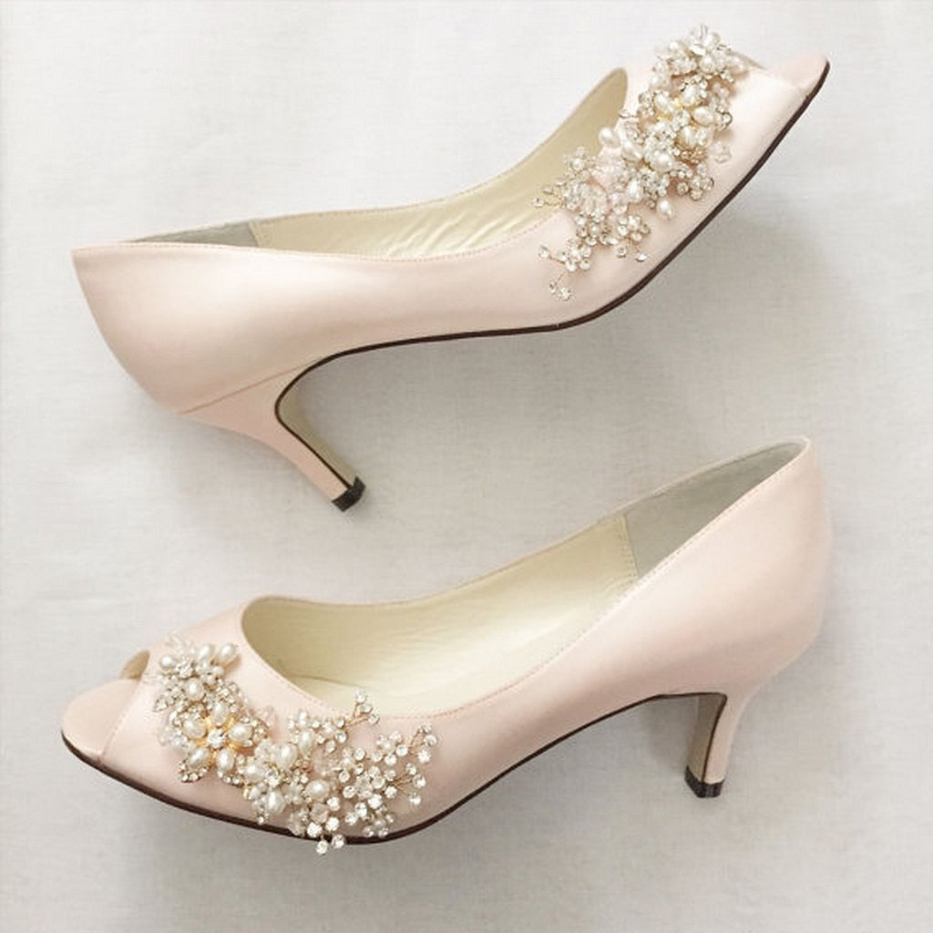 Silver Comfortable bridesmaid shoes forecasting dress in spring in 2019