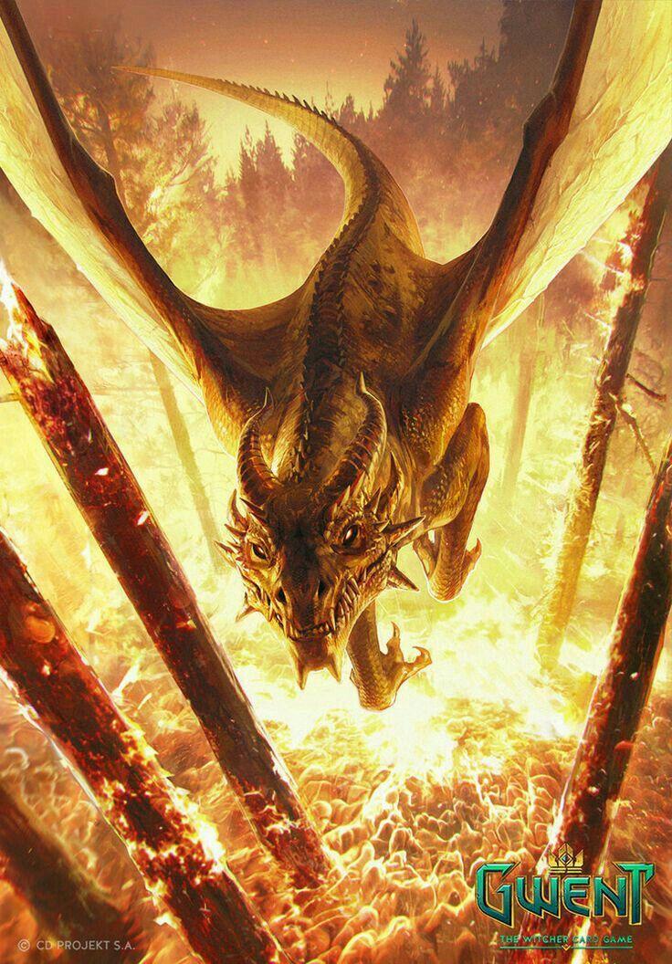炎の中を飛ぶドラゴンの壁紙
