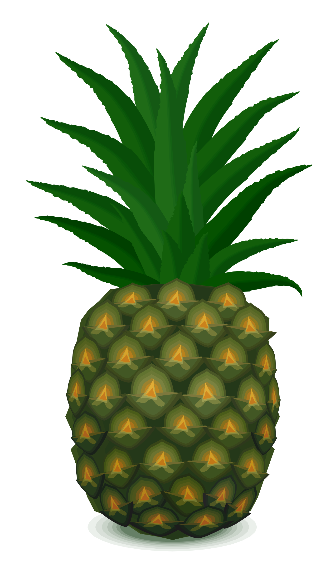 pineapple by cactus cowboy, silhouette, on openclipart