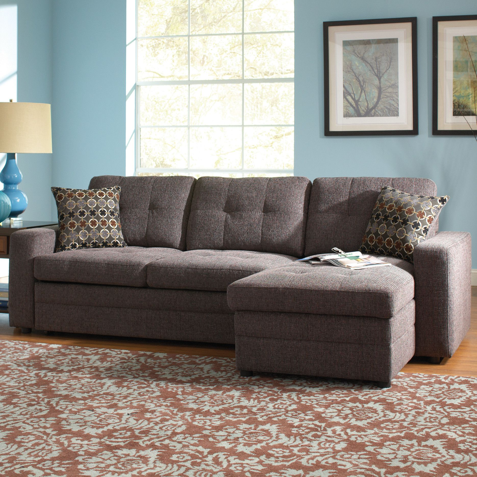 Surprising Chanelle Right Hand Facing Sleeper Sectional With Ottoman Forskolin Free Trial Chair Design Images Forskolin Free Trialorg