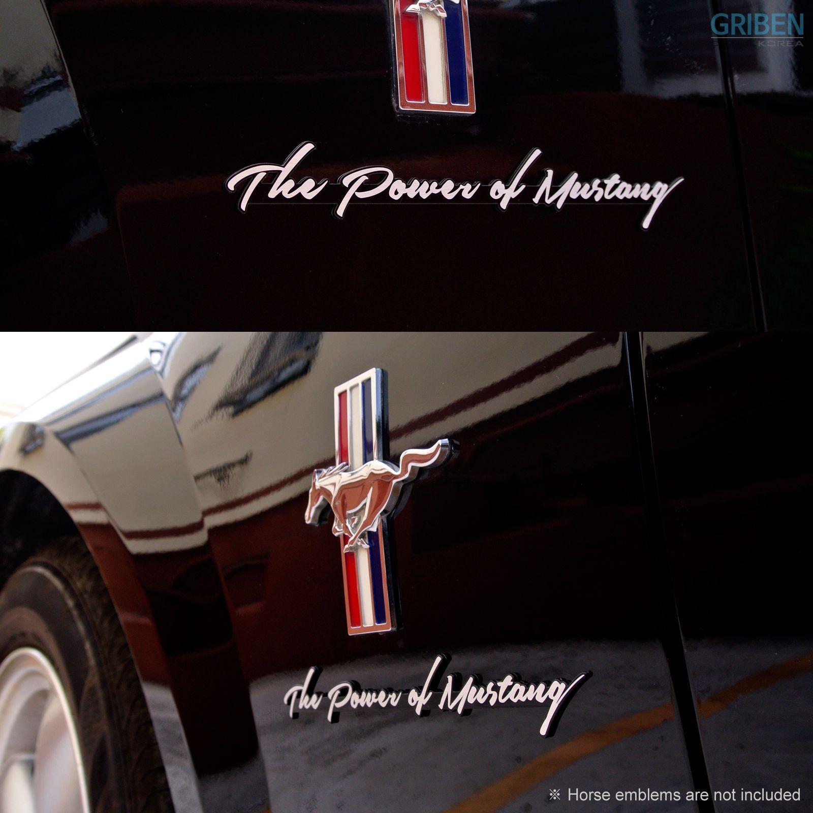 Griben Car Badge Lettering Slogan Emblem Silver for Ford