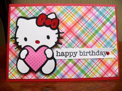 Hello Kitty Birthday Card Hello Kitty Birthday Party Cricut Birthday Cards Hello Kitty Birthday