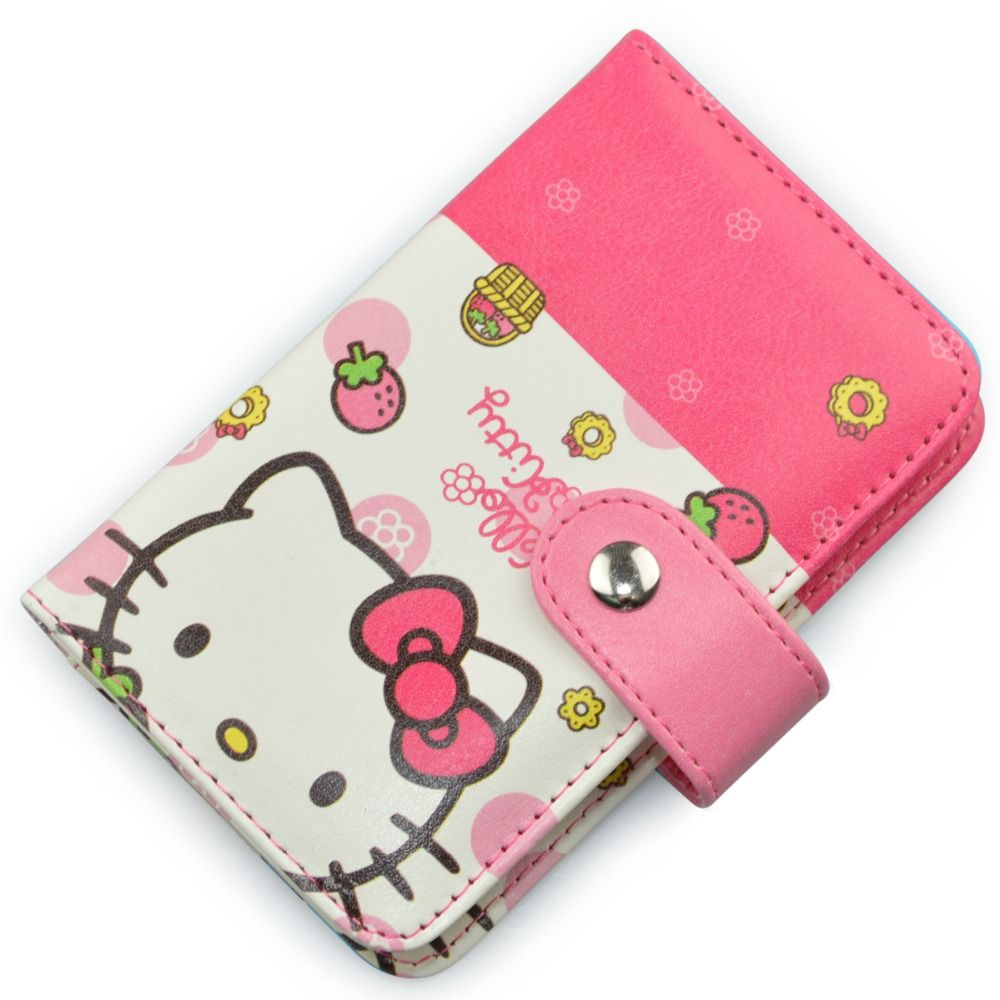 2015 Hot Sale Cartoon Id Card Pouch Hello Kitty Business Card Bag Pu