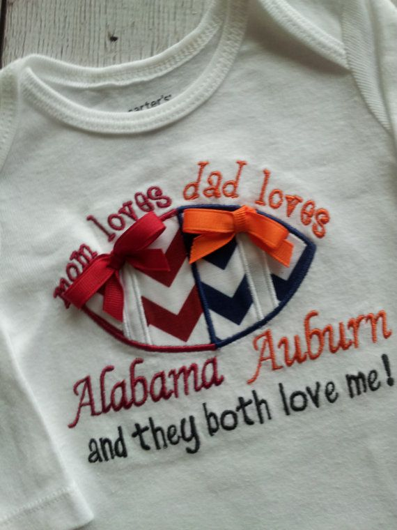 Infant Baby Girl Gifts House Divided Football Tee Shirt Onesie Bodysuit