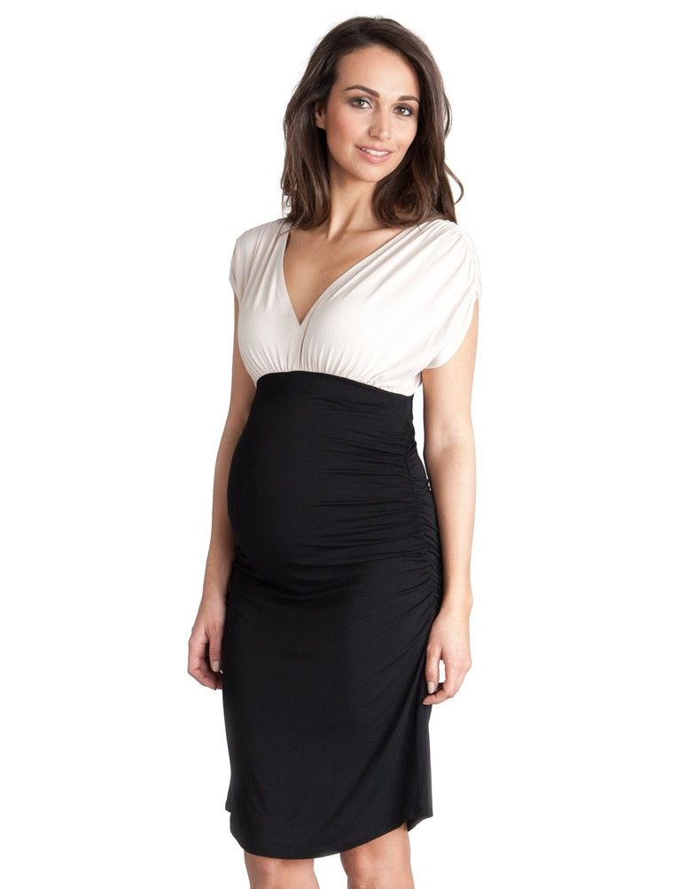 White Maternity Cocktail Dresses - Ocodea.com