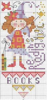 Reading is Magic cross stitch chart