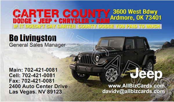 2014 Jeep Wrangler Business Card Id 21149 2014 Jeep Wrangler Jeep Jeep Wrangler