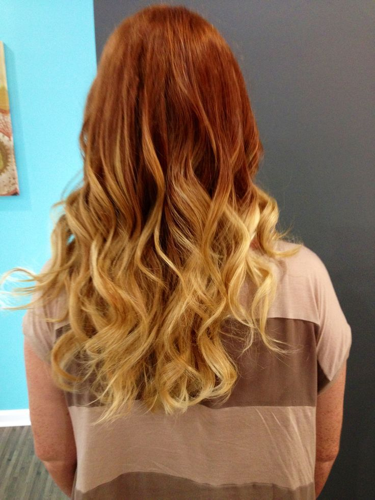 Natural Copper To Ombre Blonde Red Blonde Hair Ombre Hair