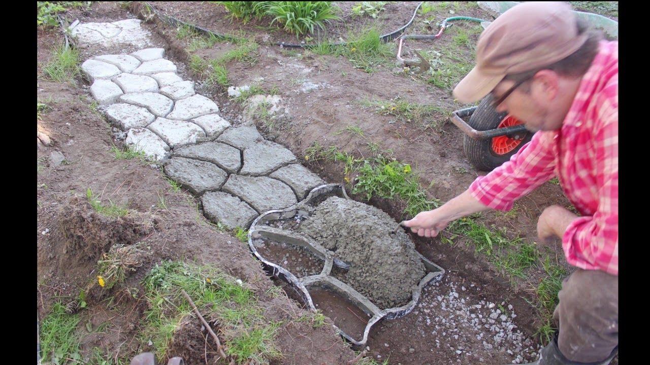 diy paver walkway mold
