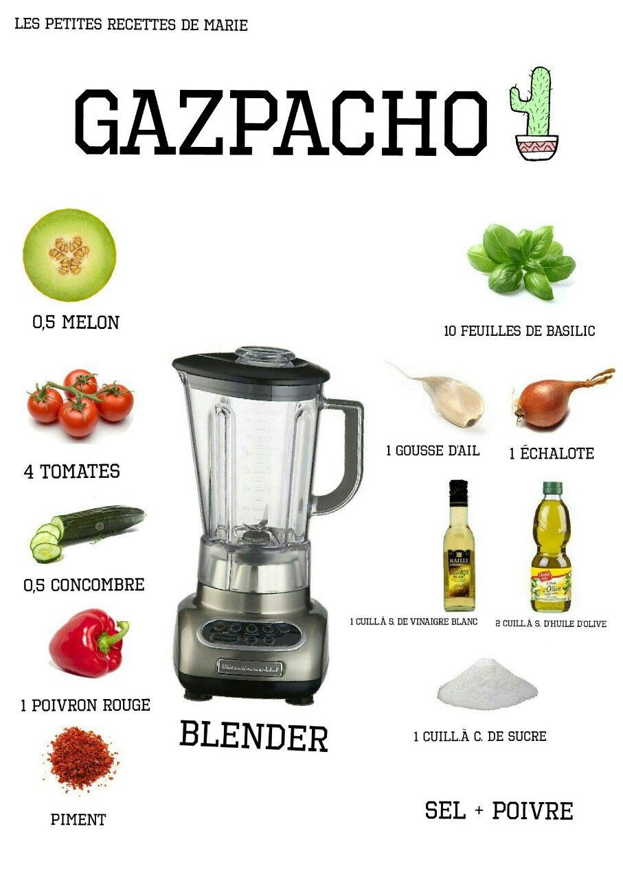 Le gazpacho  : rafraîchissant et sain