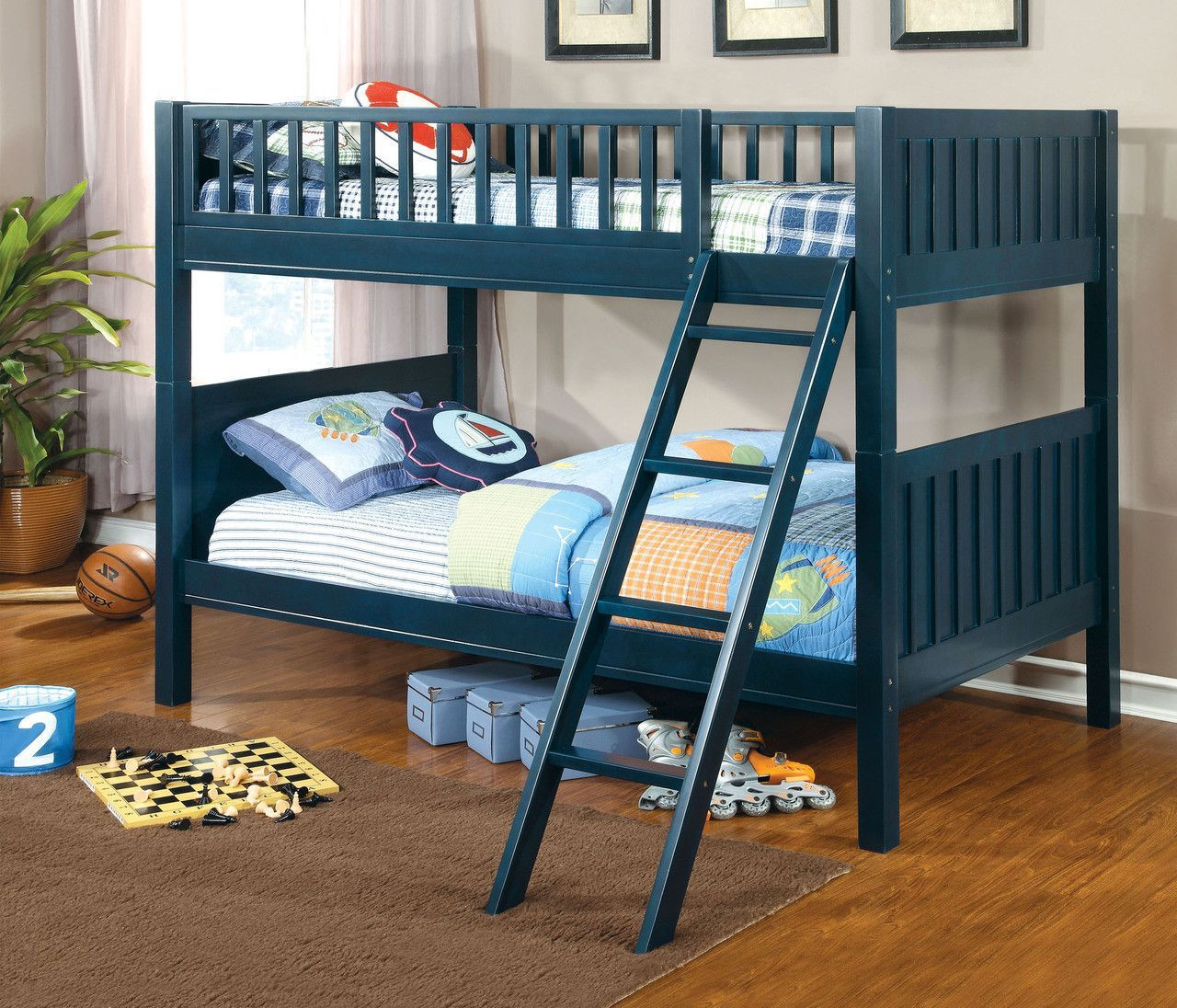 furniture of america azure collection twin twin bunk bed cm bk615