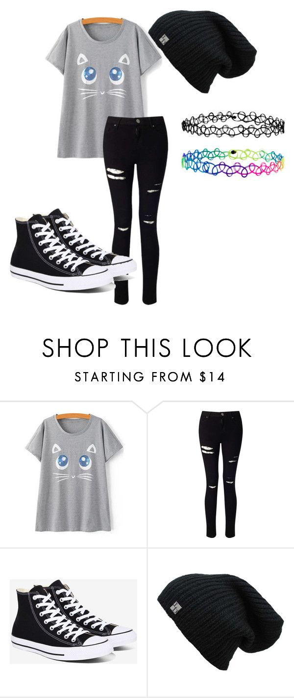 """""""Unnamed outfit number 56"""" by sylviadwornick on Polyvore featuring Miss Selfridge, Converse and Accessorize"""
