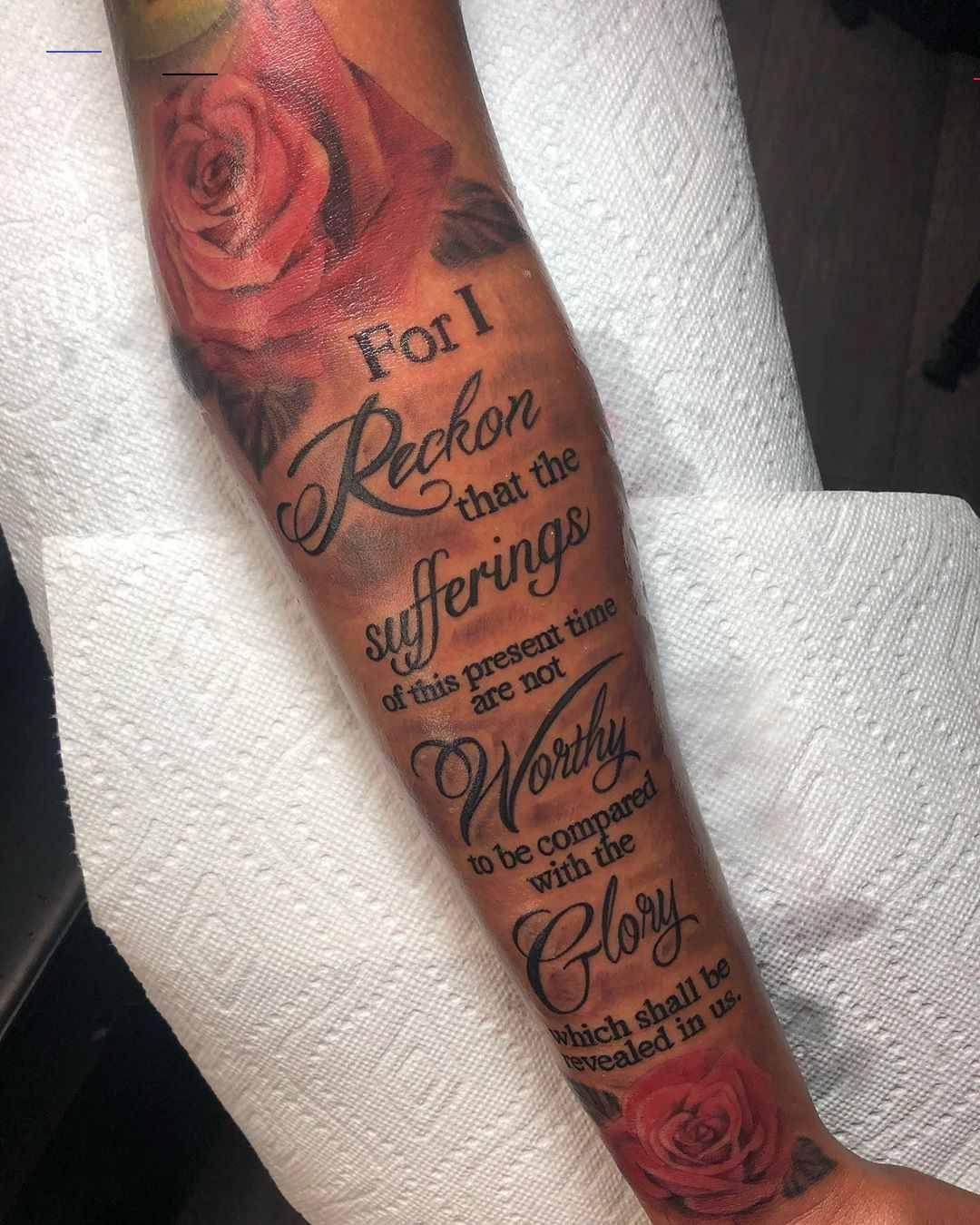 Männer tattoo arm sprüche