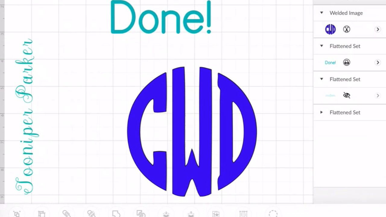 Circle Monogram Font Cricut Design Space App Tutorial Cricut Monogram Circle Monogram Font Cricut
