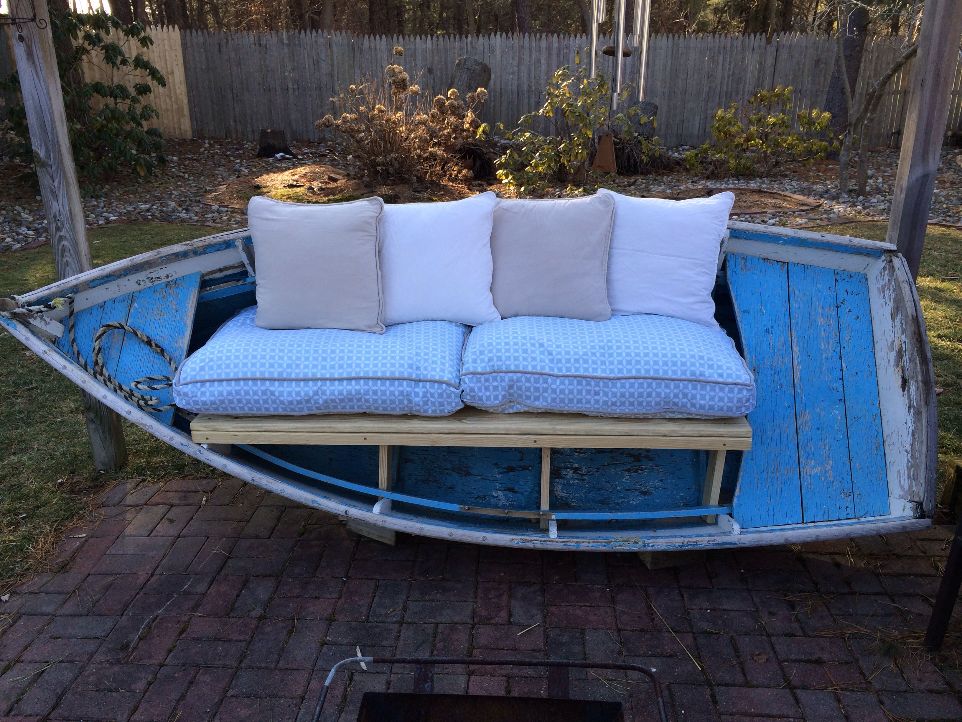 Fabulous row boat bench Love love love this