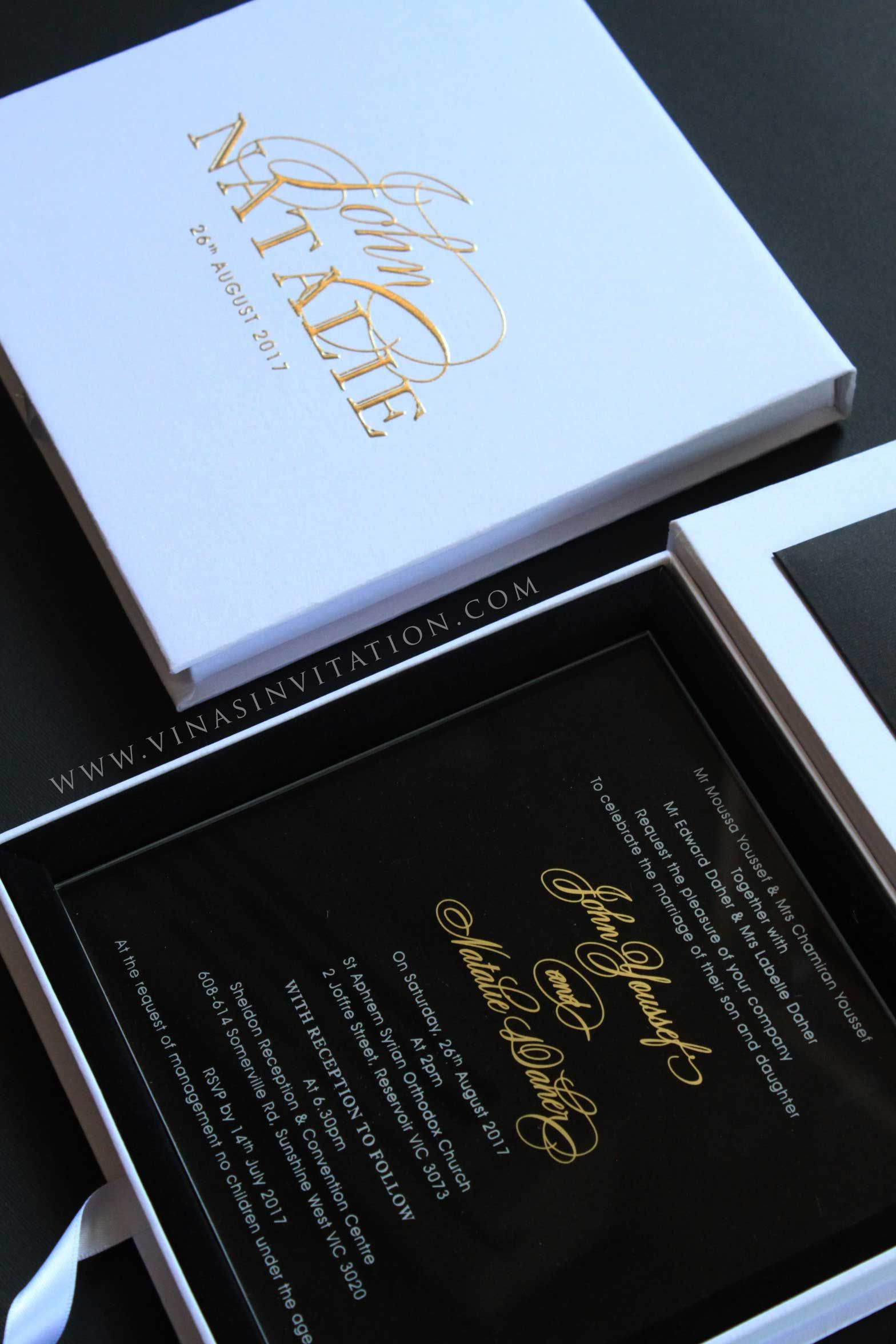 Vinas invitation acrylic invitation vinas sydney sydney wedding