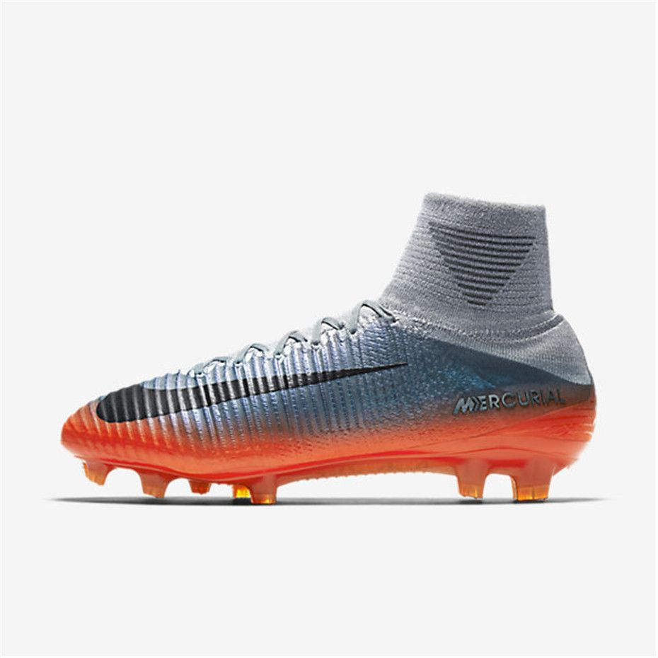 Nike Mercurial Superfly V Cr7 Fg Cool Grey Wolf Grey Total Crimson Metallic Hematite Soccer Cleats Cleats Nike Football Boots