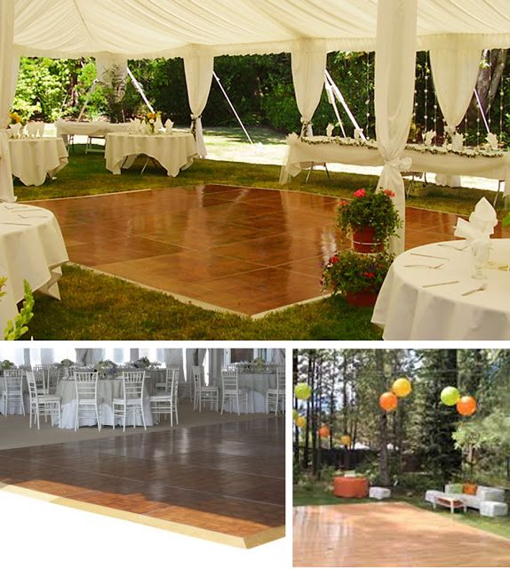 Simple Outdoor Wedding Reception Ideas: DIY Dance Floor (top One)