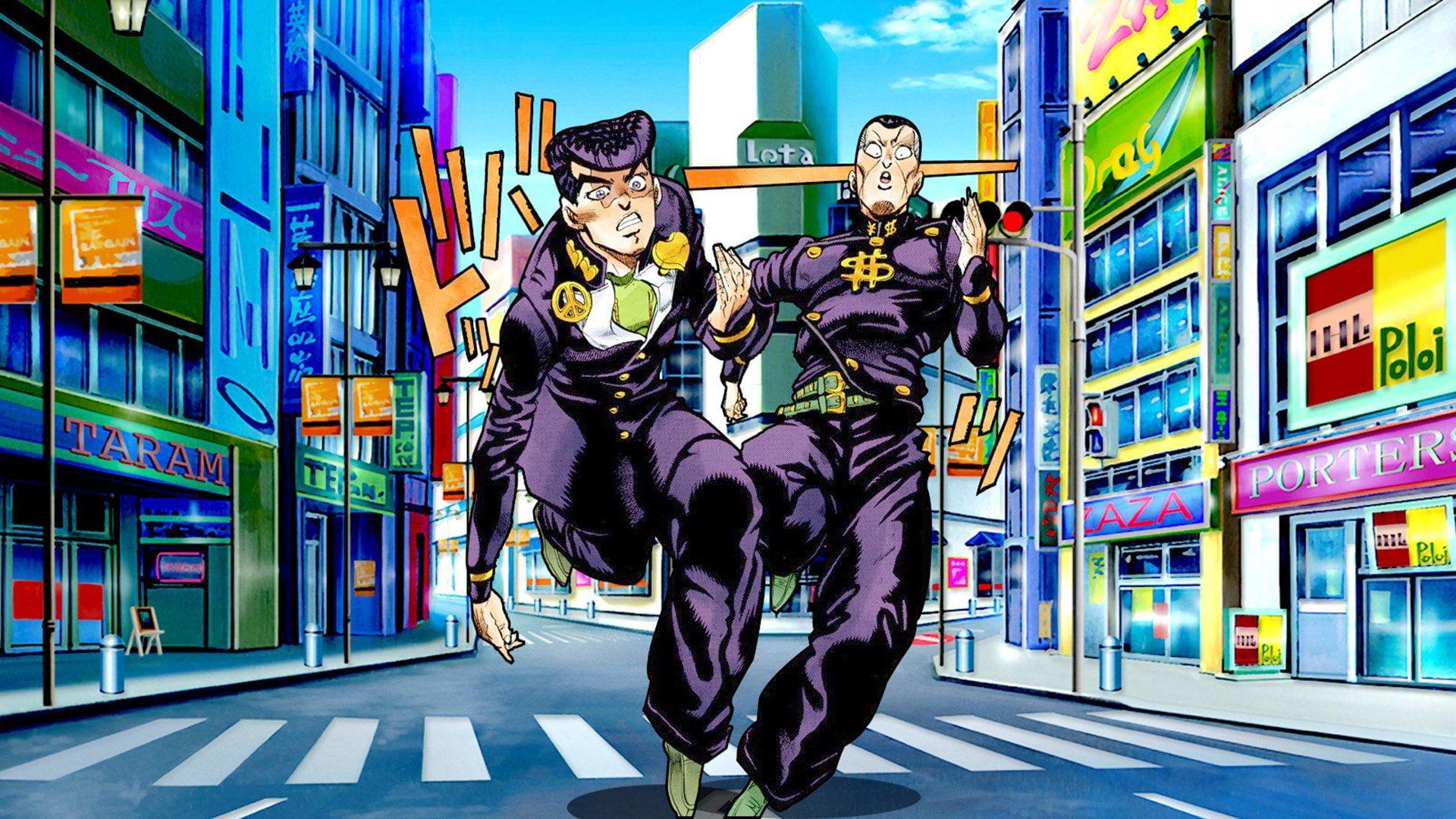 Anime Jojo S Bizarre Adventure Josuke Higashikata Okuyasu Nijimura 1080p Wallpaper Hdwallpaper Jojo Bizzare Adventure Jojo Bizarre Jojo S Bizarre Adventure