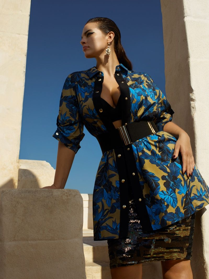 Ashley Graham wears bold prints in Marina Rinaldi spring-summer 2019  campaign d7dd83b30