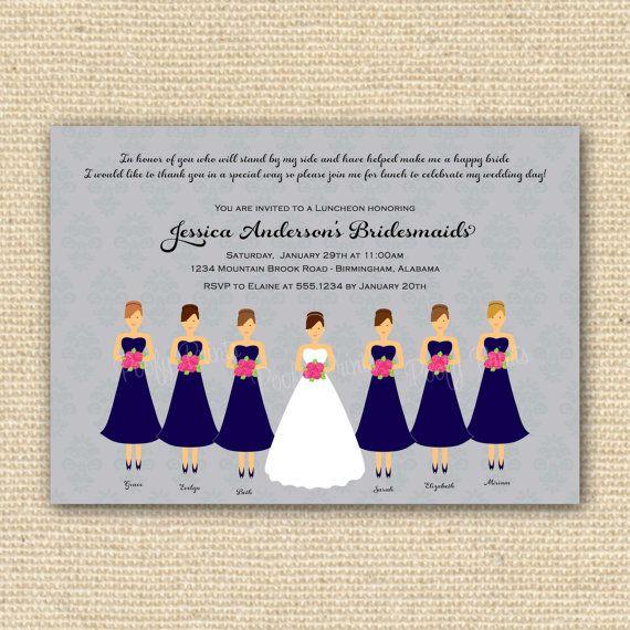 bridesmaids luncheon invitations