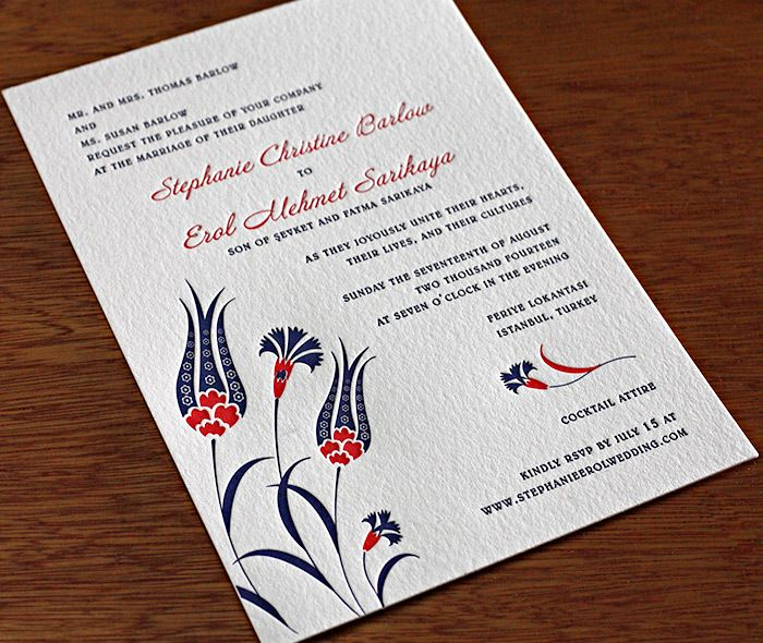 Lale our newest wedding invitation design incorporates a