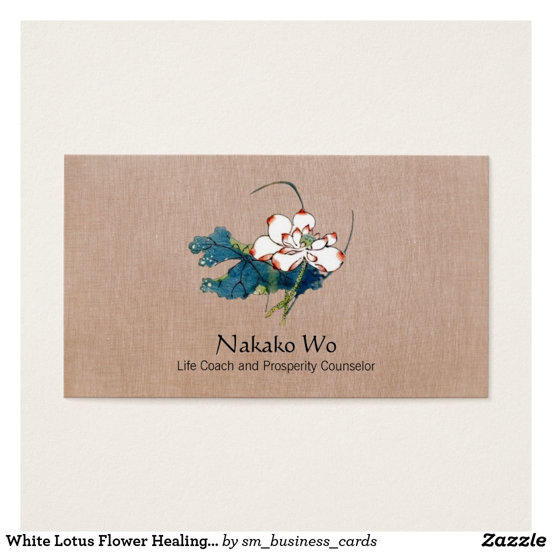 White Lotus Flower Healing Arts Holistic Health Business Card