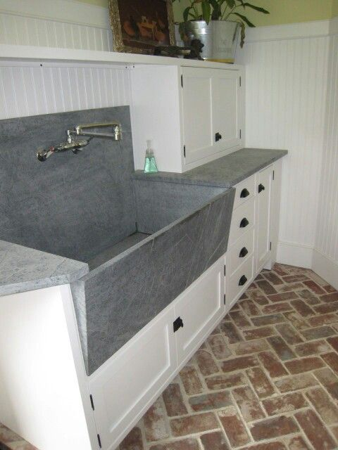 Soap Stone Sink And Countertop Laundry Room Sink Large Laundry Rooms Basement Laundry Room