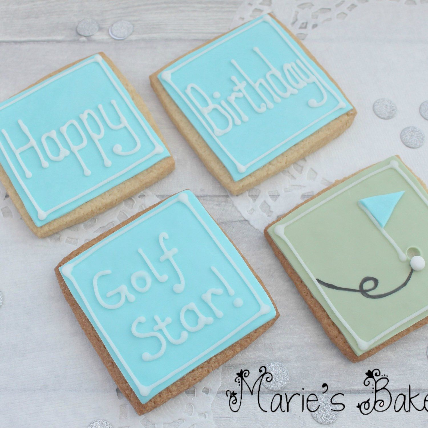 Golf cookies birthday gift cookies gift for golf fanbirthday