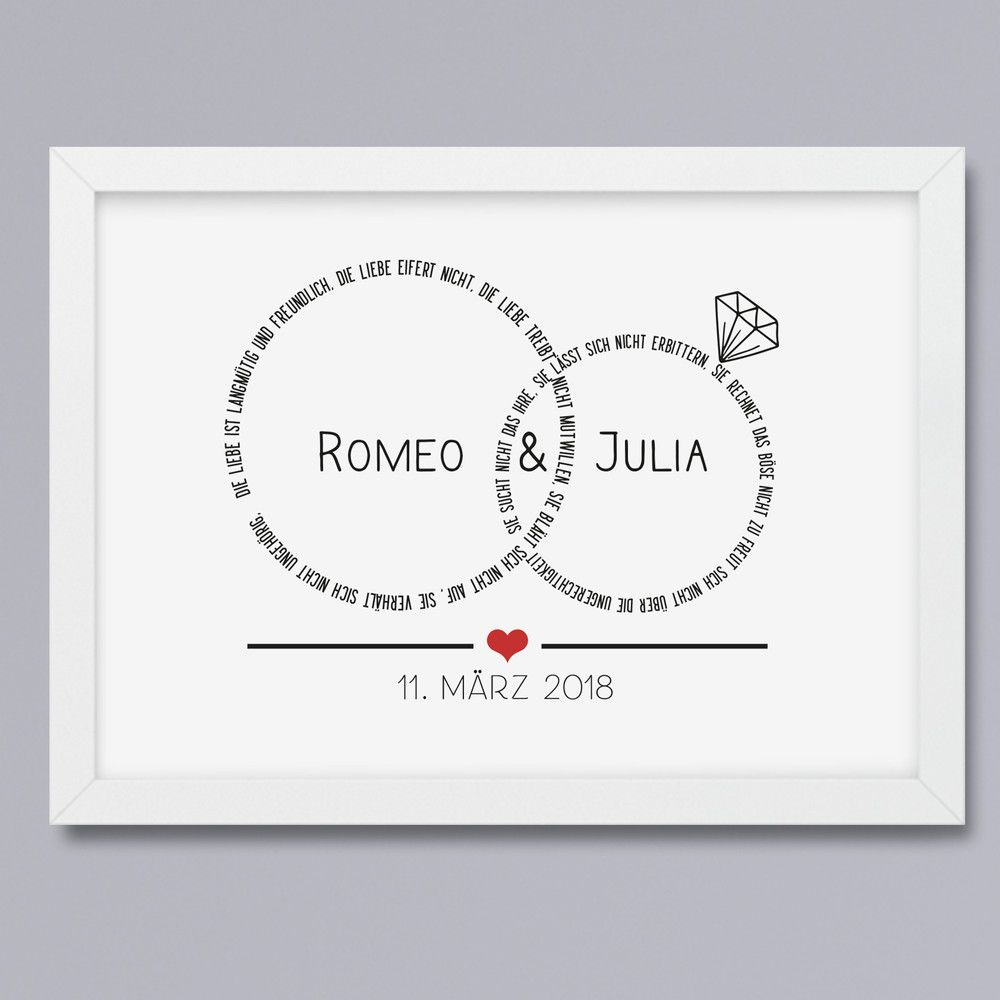 Ehe-Ringe Kunstdruck ohne Rahmen | Ehe, Kunstdruck und Rahmen