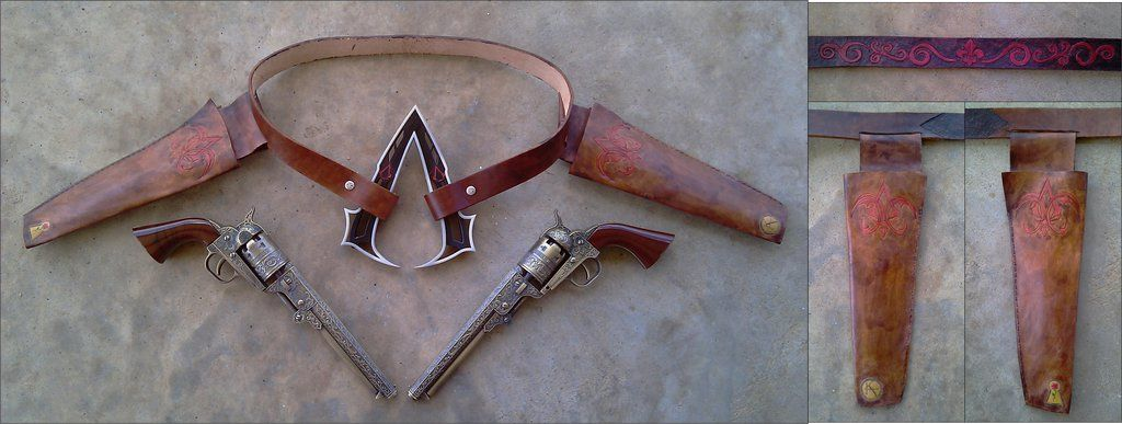 Assassin S Creed Wild West Gunslinger Belt By Rebelats Deviantart