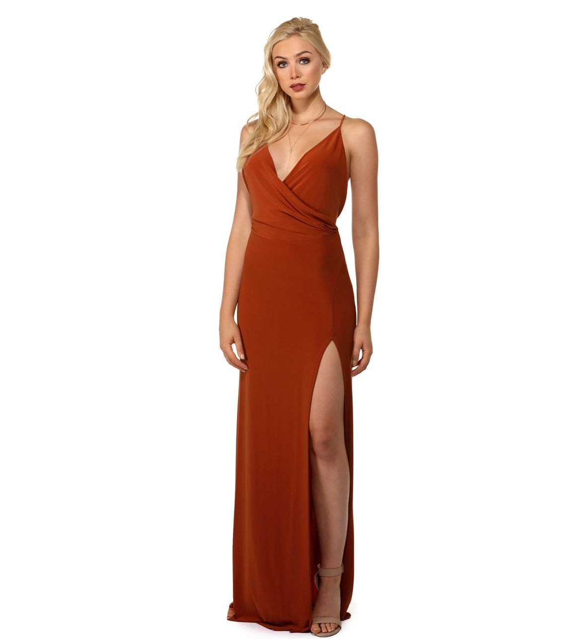 Dahlia rust slit formal dress fashion pinterest formal dresses