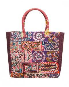Multi Patchwork Cloth Mirrored Narlai Tote