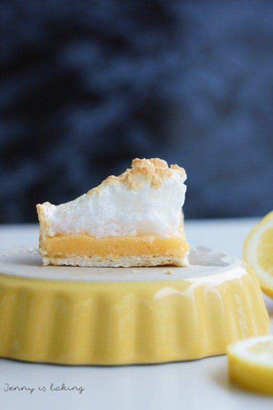 Lemon Meringue Pie oder Zitronen-Pie mit Baiserhaube #lemonmeringuecheesecake lemon meringue pie #lemonmeringuecupcakes