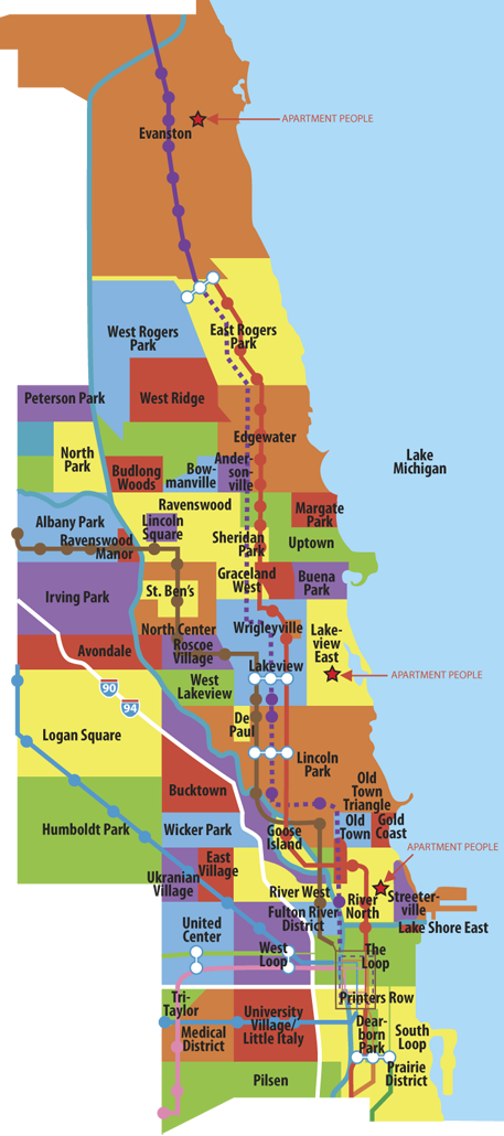 Evanston Subway Map.Map Of Chicago Neighborhoods Moving On 2014 In 2019 Chicago