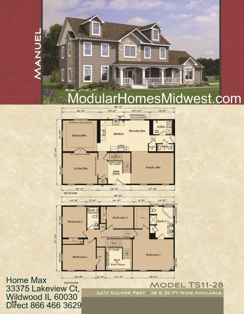 Open Design Two Story Floor Plan Modular Home Floor Plans Open Floor House Plans New House Plans