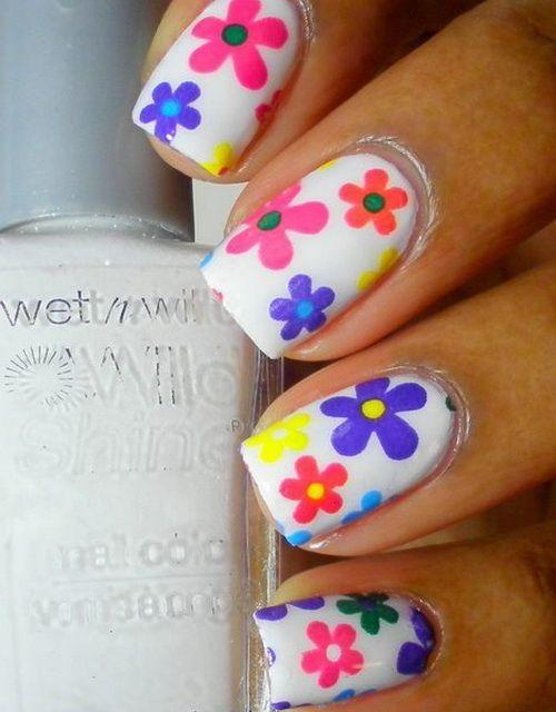 Modele De Unghii Cu Flori 9 Nails