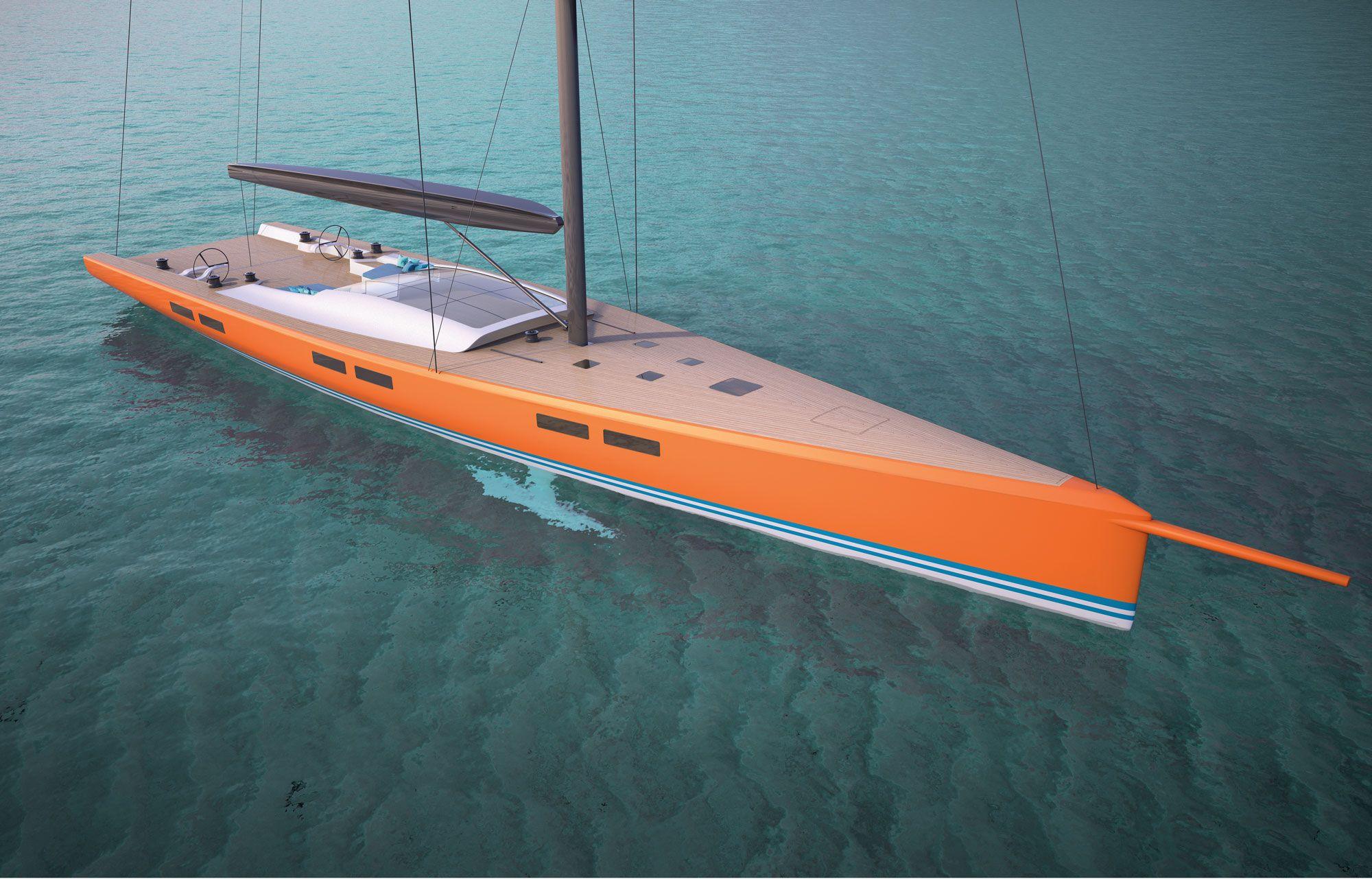 Luxus segelyacht holz  Reichel/Pugh Yacht Design · RP 35m Superyacht | Yacht Design ...
