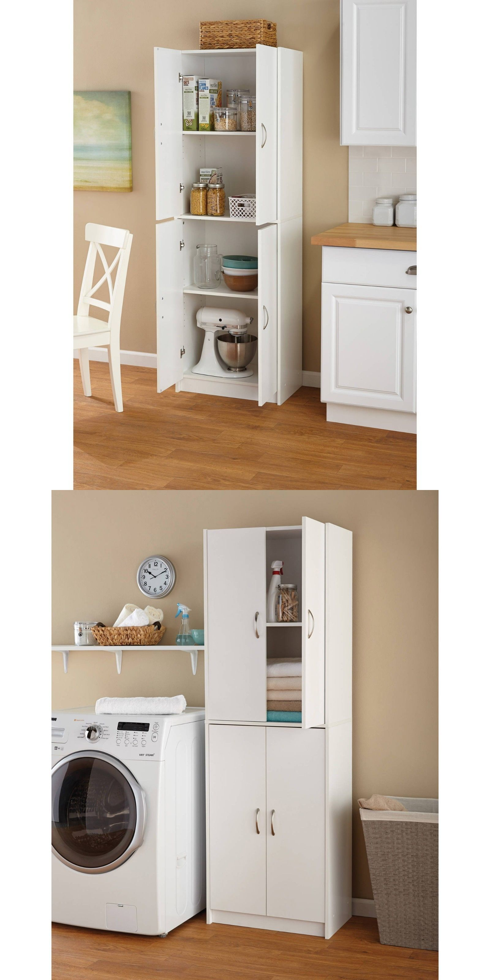 Cabinets And Cupboards 20487 Tall Kitchen Pantry Cabinet Freestanding Shelf White Cupboard Storage With Images Kitchen Pantry Storage Cabinet