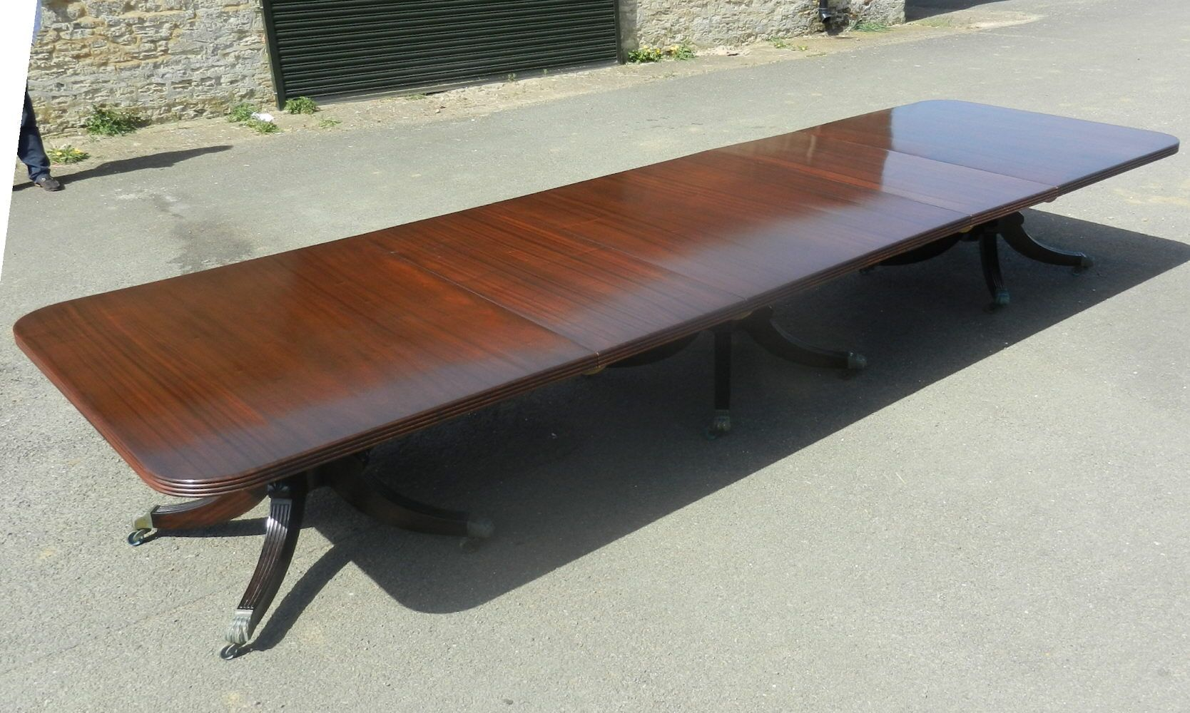 5 Metre Long Regency Mahogany Pedestal Dining Table To Seat Up To Twenty  Two People Comfortably