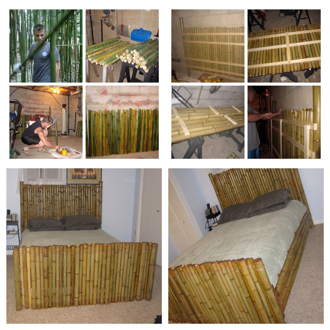 My Bamboo Bed Frame I Made Bed Bedframe Bamboo Bamboobedframe